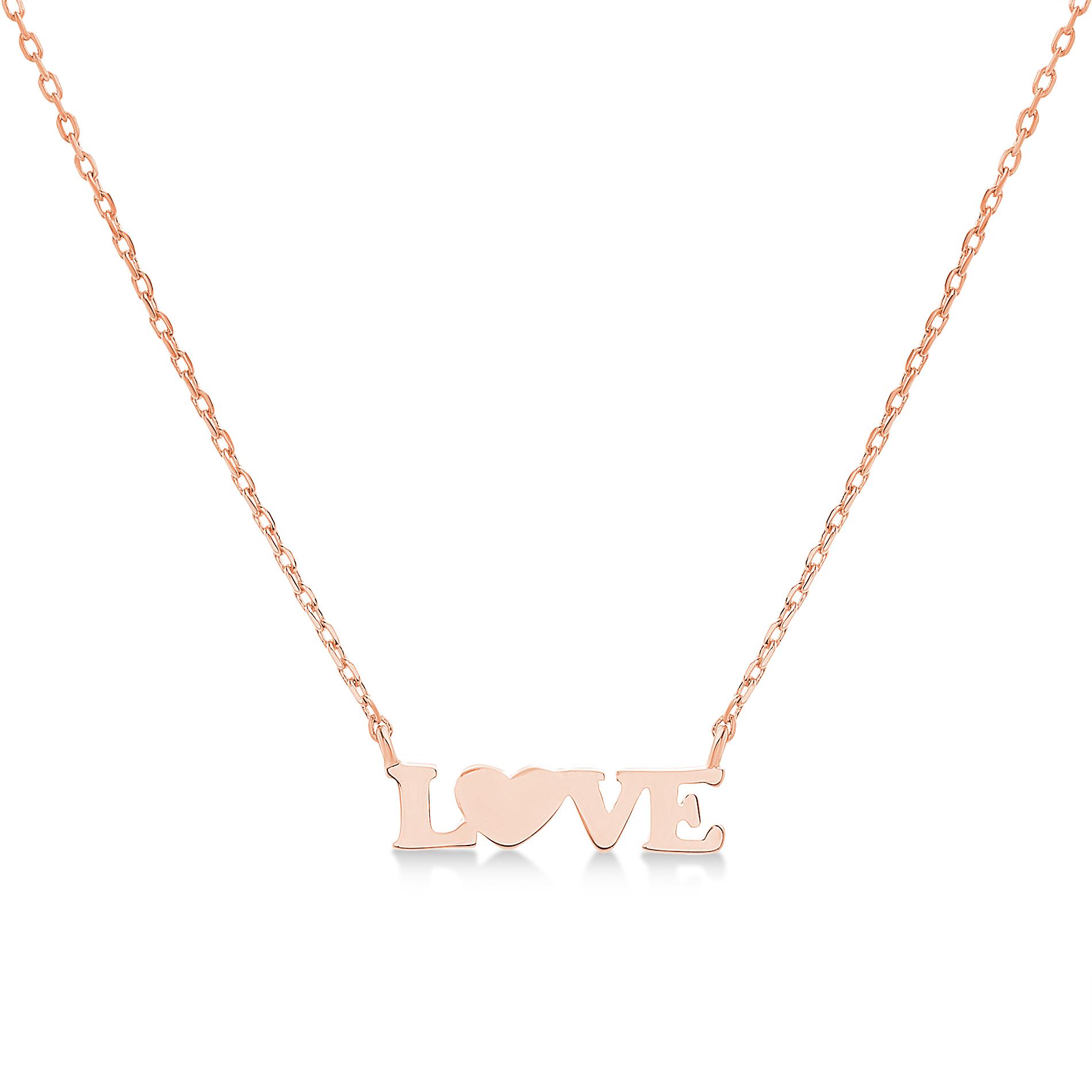 Conjunto love sin piedra rosado