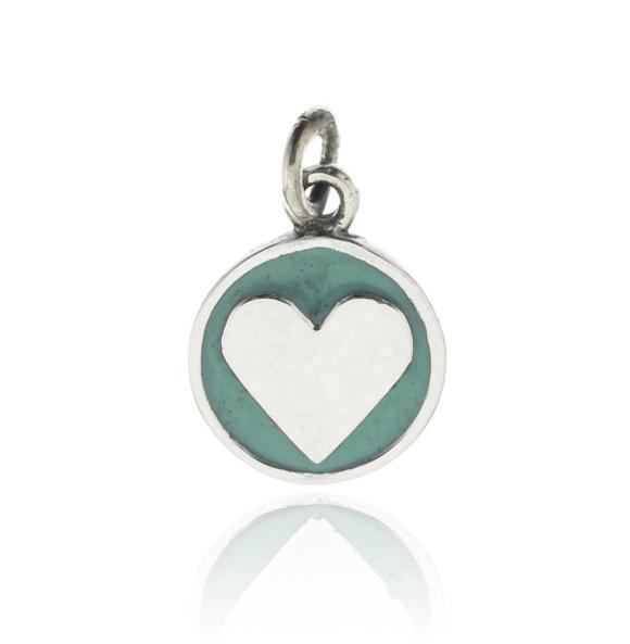 Dije medalla corazon verde