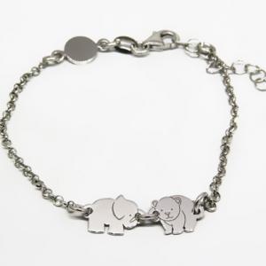 pulsera nena , animalitos, elefante y oso