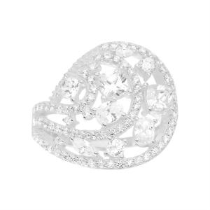 anillo calado pabe forma de gota