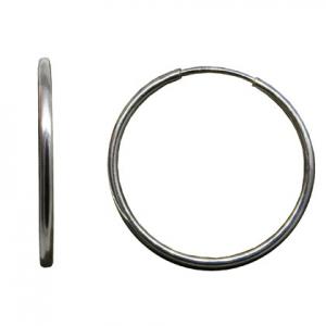 par aros argolla, micro cubanos, diametro: 1,7 cm, caño de 1,2 mm