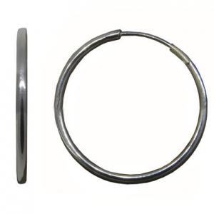 par aros argolla, micro cubanos, diametro: 2 cm, caño de 1,2 mm