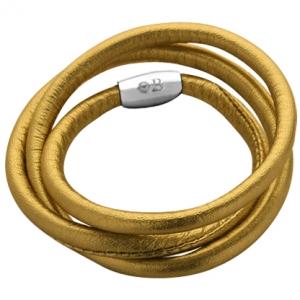 pulsera cuero Oro