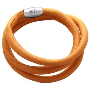 pulsera cuero naranja