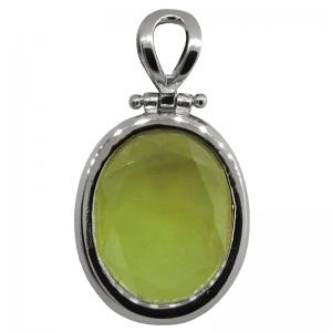 colgante oval 20 x 25 verde, platabella