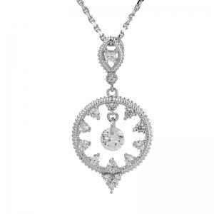 conjunto ovalo + circulo, con piedras blancas de diferentes tamaños