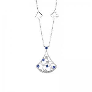 Conjunto campanita piedras azules y blancas