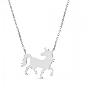 Conjunto unicornio sin piedra, blanco