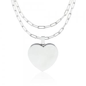 Conjunto corazon con cadena forcet alargada x 80 cm