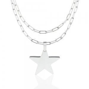 Conjunto estrella con cadena forcet alargada x 80 cm