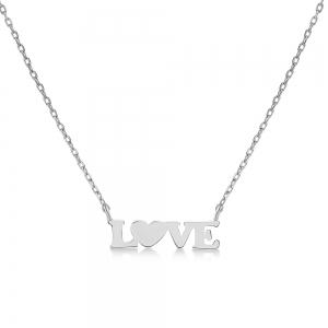Conjunto love sin piedra blanco
