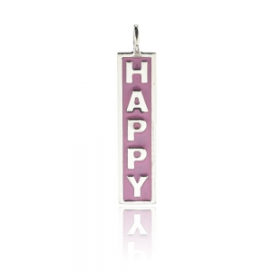 "Dije barrita "" happy"" esmalte rosado"