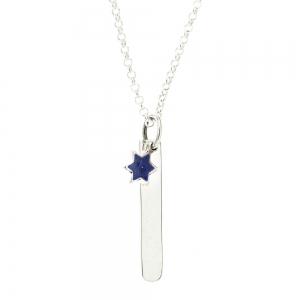 Conjunto barrita con estrella esmaltada azul