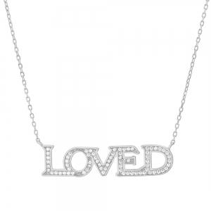"""Conjunto """" Loved """" piedras blancas"""
