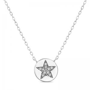 Conjunto medallita con estrella pavee