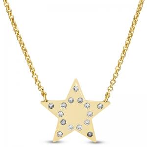 Conjunto estrella amarilla con piedras