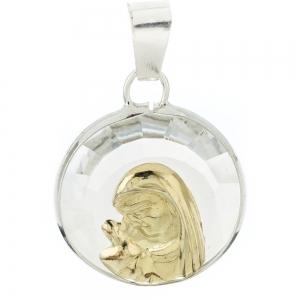 Medallita virgen niña