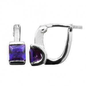 Par aros tank brisura piedra violeta, platabella