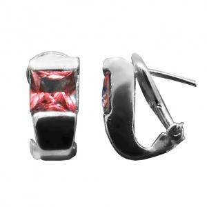 Par aros tank cinta con clip piedra roja, platabella