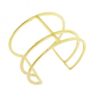 Brazalete 3 tiras, amarillo, platabella