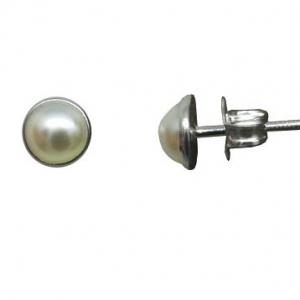 Par aros media perla pegados 6 mm