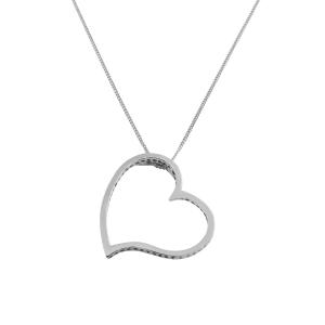 Conjunto corazon Araceli sin piedra, blanco. Diámetro 2,7 aprox