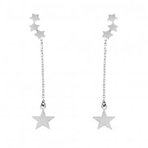 Par aros trepadores estrella con cadenita