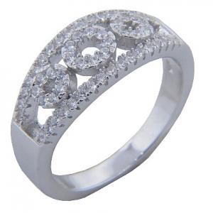 anillo tres circulos calados con piedras