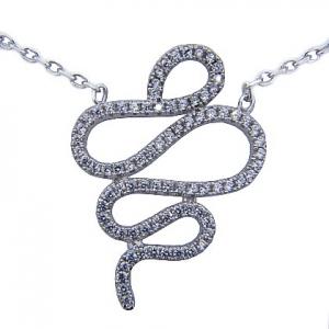 conjunto tipo serpiente con piedras blanco