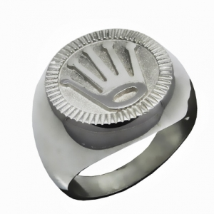 anillo tipo sello corona