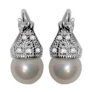 Par aros lady capricho perlas 8 mm