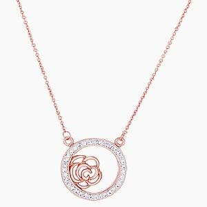 conjunto rosado,circulo con piedras rosa calada