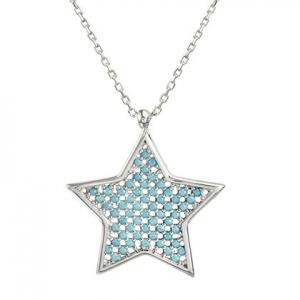conjunto estrella con piedras celestes
