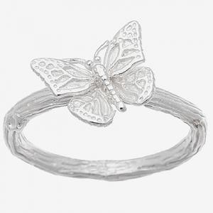 Anillo mariposa sin piedras blanco