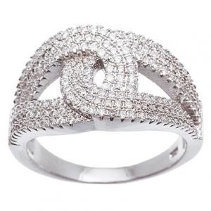 anillo gotas cruzadas medio sin fin blanco