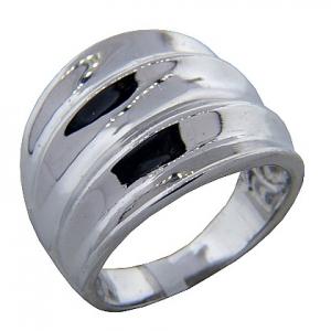 anillo platabella rodinado bombe gajos hundidos