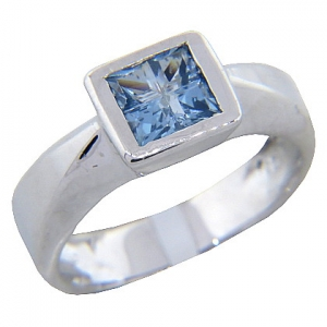 anillo platabella tank invisible 6x6 piedra celeste