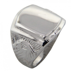 anillo sello leon platabella
