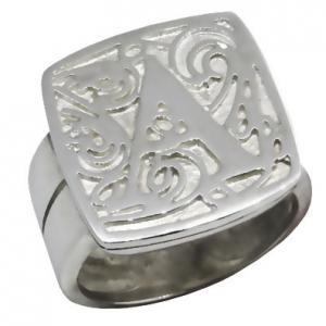 anillo britania letra doble cuerpo platabella