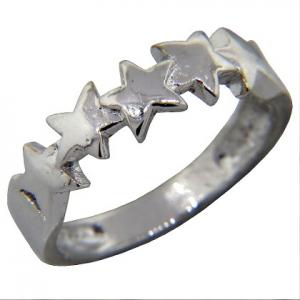 anillo estrellas corridas platabella