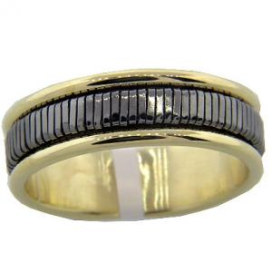 anillo buje resorte fino centro negro borde enchapado amarillo