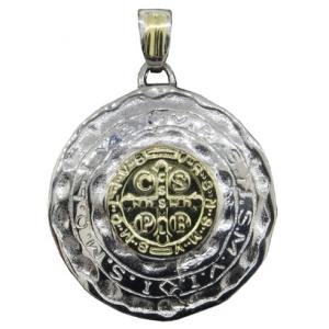 medalla san benito con double al centro