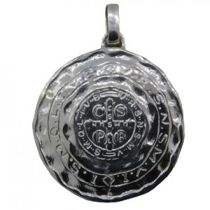 medalla san benito ( diametro: 3,4 cm )