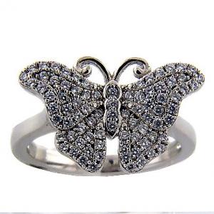 Anillo pave mariposa