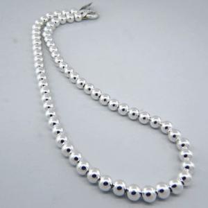 collar bolitas 7 mm ( precio x 40 cms )