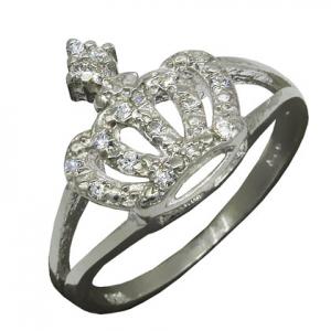 anillo coronita con piedras