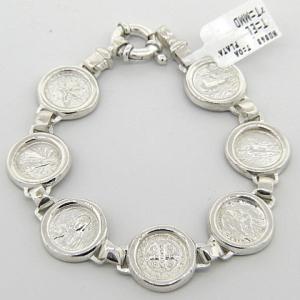 pulsera plata santos chica cierre marinero