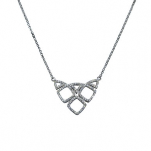 conjunto rombos, triangulos calados,con movimiento, piedras blancas